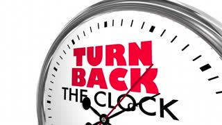 Turn Back The Clock Reverse Time Travel Words 3 D Animation