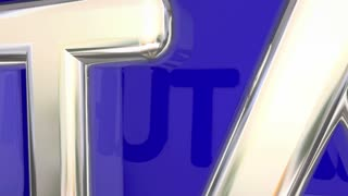 Utah Ut Red State Map Name 3 D Animation
