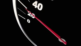 Vitality Energy Power Strength Speedometer Word 3 D Animation