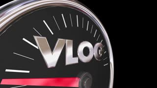 Vlog Video Blogging Traffic Audience Rising 3 D Animation