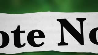 Vote Now Election Democracy Choice News Headlines 3 D Animation