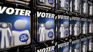 Voters People Voting Election Democracy Action Figure 3 D Animation
