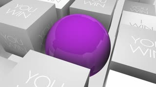 We Win You I Working Together Teamwork Sphere In Cubes 3 D Animation