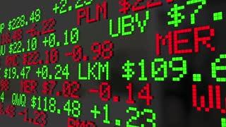 Wealth Management Financial Adviser Stock Market Investment Ticker 3 D Animation