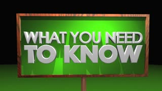 What You Need To Know Important Information Sign 3 D Animation