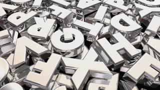 Words Communication Shiny Letters Communicate 3 D Animation