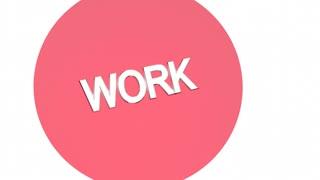 Work Life Balance Venn Diagram Words 3 D Animation