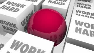 Work Smart Vs Hard Better Process System Procedure Efficiency 3 D Animation