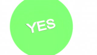 Yes No Maybe Venn Diagram Indecision 3 D Animation