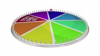 You Did It Success Winner Accomplishment Achieved Spinning Wheel 3 D Illustration