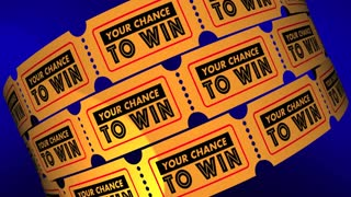 Your Chance To Win Contest Raffle Lottery Tickets 3 D Animation