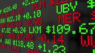 Wall Street Stock Market Ticker Exchange Words 3 D Animation