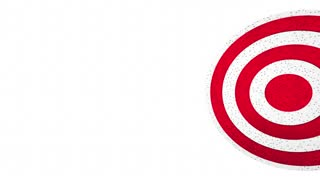 We Aim to Please Arrow Target Bulls Eye 3d Animation