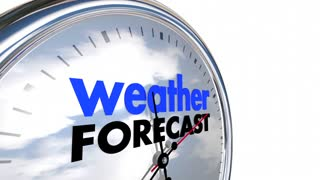 Weather Forecast Clock Time Planning Ahead 3d Animation