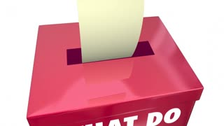 What Do You Think Opinion Share Thoughts Box 3d Animation