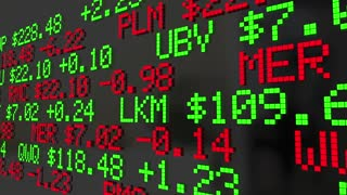 Where To Invest Stock Market Ticker Symbols 3 D Animation