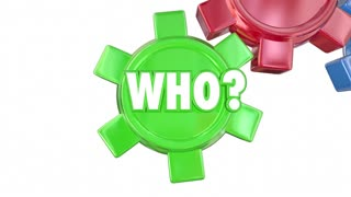 Who What Where When Why Questions Gears Words Animation