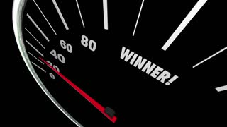 Winner Speedometer Word Animated Video