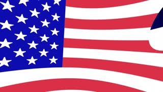 Wisconsin USA Flag United States America Map 3d Animation