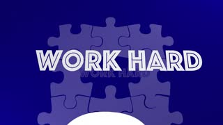 Work Smart Vs Hard Puzzle Piece Get Job Done 3 D Animation