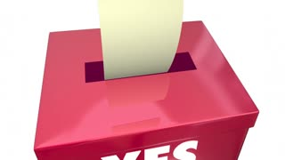 Yes or No Answer Box Vote Ballot Opinion Words 3d Animation