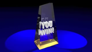 You Win Top Award Grand Prize Competition 3d Illustration