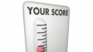 Your Score Thermometer High Level Percent 3 D Animation