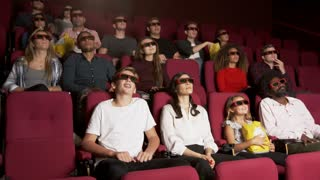 Audience In Cinema Watching 3D Comedy Film Shot On R3D