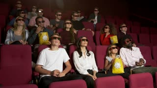 Audience In Cinema Watching 3D Film Shot On R3D