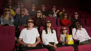 Audience In Cinema Watching 3D Horror Film Shot On R3D