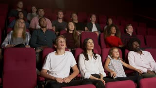 Audience In Cinema Watching Horror Film Shot On R3D