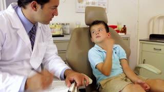 Boy Having Dental Check Up