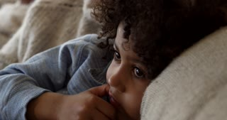 Boy Watching Television At Home Shot On R3D