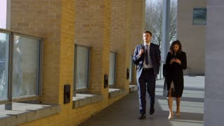 Business Colleagues On Way To Work Shot On R3D