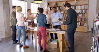 Business Team Meet For Brainstorming Session Shot On R3D