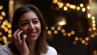 Businesswoman Making Phone Call Away From Office Shot On R3D