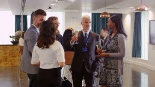 Delegates Network At Conference Drinks Reception Shot On R3D
