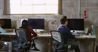 Designer Arriving For Work In Modern Office Shot On R3D