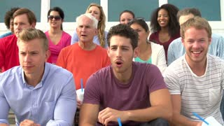 Disappointed Spectators At Sports Event In Slow Motion