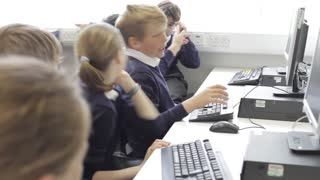 Group Of Children In Computer Class