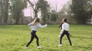Group Of Teenagers Playing Soccer In Park Shot On R3D