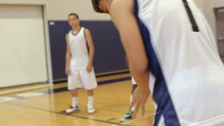 Male High School Basketball Player Shooting Penalty