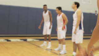 Male High School Basketball Player Shooting Penalty