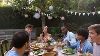 Man Takes Selfie Around Table At Outdoor Party Shot On R3D
