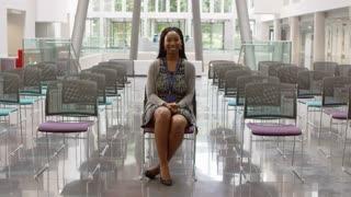Portrait Of Businesswoman In Empty Auditorium Shot On R3D