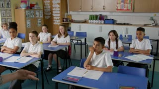 Pupils In Class With Teacher Answering Question Shot On R3D