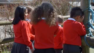 School Pupils Playing Hide And Seek At Breaktime Shot On R3D
