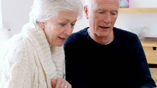 Senior Couple Using Laptop To Shop Online