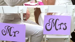 Slow Motion Sequence Of Bride And Groom At Reception