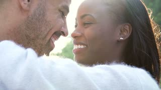 Slow Motion Sequence Of Romantic Couple Outdoors